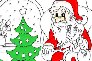 圣诞老人填颜色
