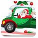 圣诞老人驾车送礼