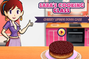 莎拉做樱桃蛋糕