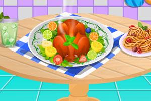 感恩节的火鸡大餐