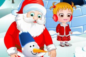 可爱宝贝的圣诞节惊喜