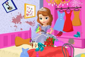 索菲亚打扫屋子