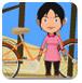 帮助女孩修自行车