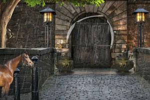 逃离废旧古城堡