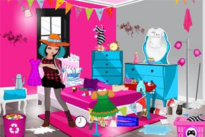 女孩的卧室整理