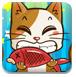 小猫抢吃鱼