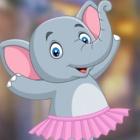 救援跳舞小象