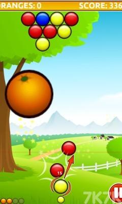 《橘子泡泡龙》游戏画面2