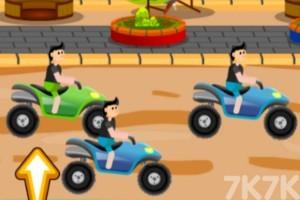《沙滩车障碍赛》游戏画面1