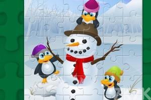 《新年企鹅拼图》游戏画面2