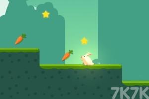 《贪吃的小兔子》游戏画面1