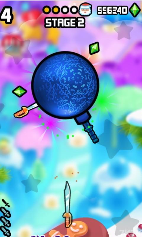 《见缝插刀圣诞无敌版》游戏画面4