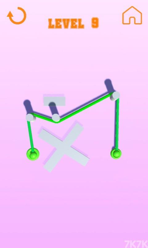 《彩色绳子》游戏画面2