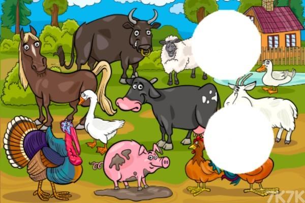 《简单农场拼图》游戏画面1
